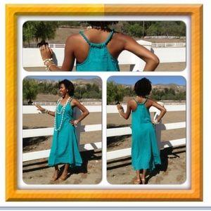 2CHILLIES Teal Green Maxi Dress